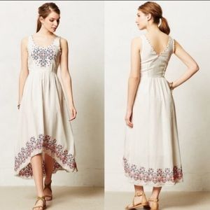 Holding horses anthro embroidered white dress 0
